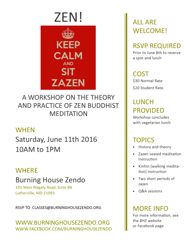 june 2016 zen workshop