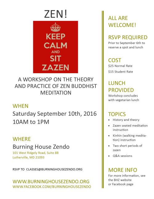 september 2016 zen workshop